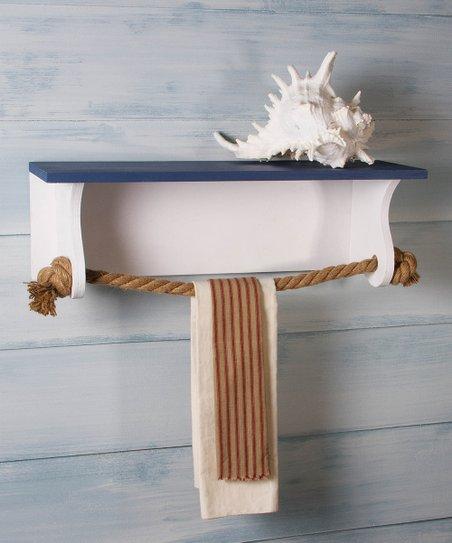 Timeless By Design Nautical Towel Rack Shelf Zulily