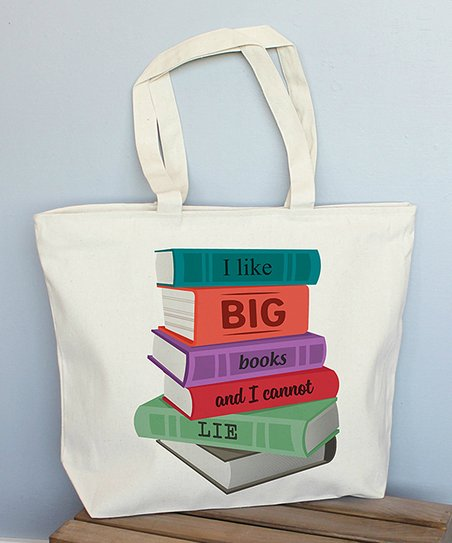 Love you a Latte Shop 'I Like Big Books and I Cannot lie' Extra Large Tote