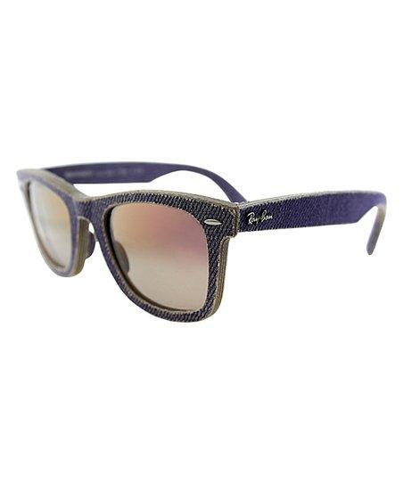 809ff33d1e Ray-Ban Black Denim Textured Wayfarer Sunglasses - Women - Women ...