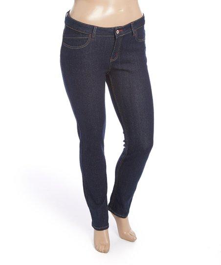 975e0e0e72b Be Girl Clothing Dark Indigo Wave-Pocket Skinny Jeans - Plus