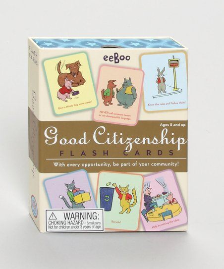 Sonstige Eeboo Good Manners Flash Cards