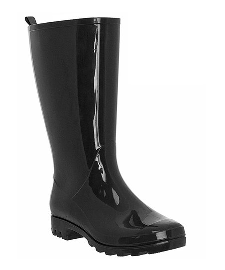 defb645fab4 Capelli New York Black Tall Jelly Wide-Calf Rain Boot - Women