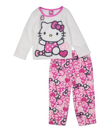 c8104dd1f love this product White Fleece Hello Kitty Pajama Set - Toddler