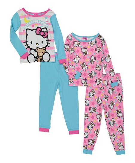 35e2850a2 love this product Blue & Pink Hello Kitty Four-Piece Pajama Set - Infant &  Toddler