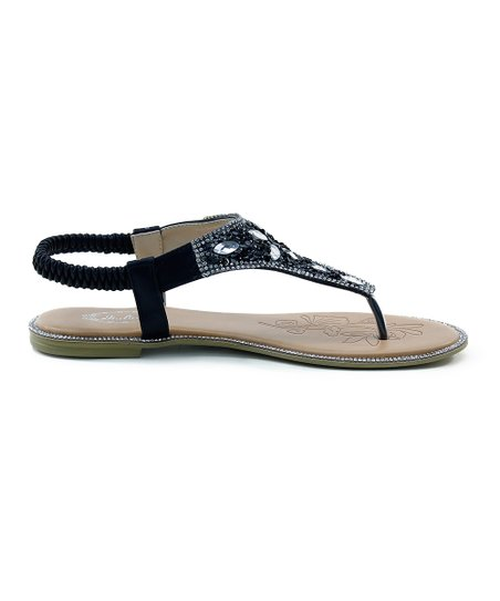 2ae5d5a11 Selina Black Sequin Sandal