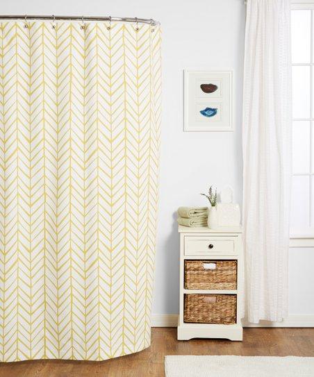 Mustard Feather Shower Curtain