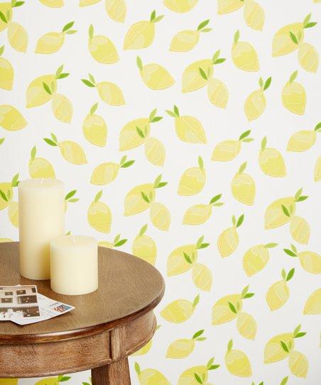 White Lemons Wallpaper Zulily