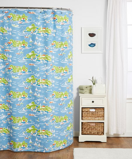 Love This Product Oar Blue Skylake Toile Shower Curtain