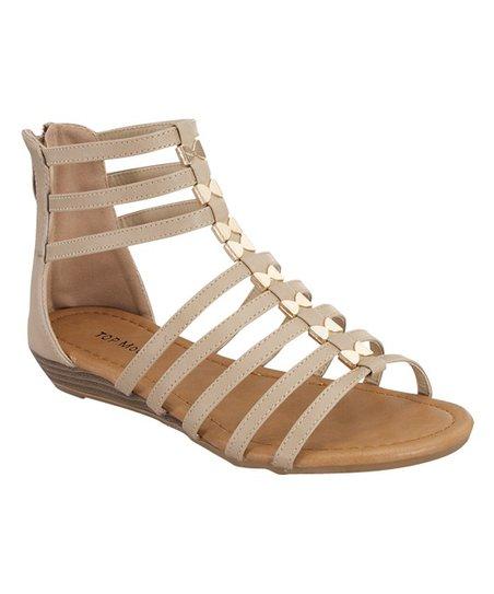 af415217f TOP MODA Beige Avery Gladiator Sandal