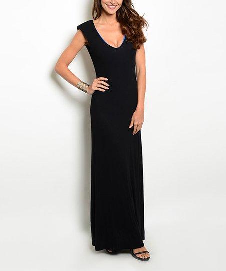 Black Backless Maxi Dress Zulily