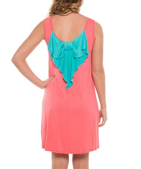b955969a2ce Coveted Clothing Pink   Aqua Bow-Back Sleeveless Dress - Women