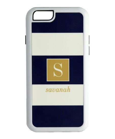 Avondale Boutique Navy Block Stripe Initial iPhone 6   6s Case  6580a9432