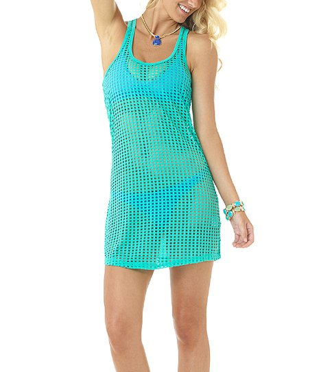 be3722965f5f6 love this product Mint Mesh Racerback Cover-Up - Juniors