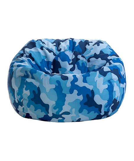 Merveilleux Blue Camouflage Junior Bean Bag Chair