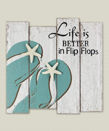 Life Is Better In Flip Flops Wood Wall Sign Zulily