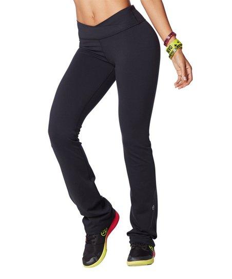 7310069d652d2 Zumba® Back to Black Crossover Waistband Bootcut Leggings - Women ...