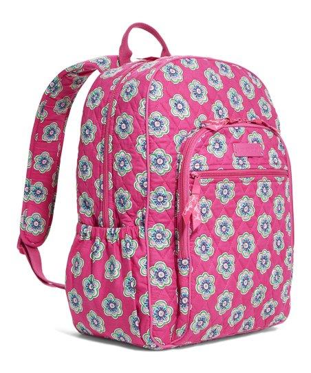 1b1e2c626c Pink Swirls Flowers Campus Backpack