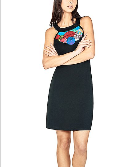 Black White Stripe Fit Flare Dress