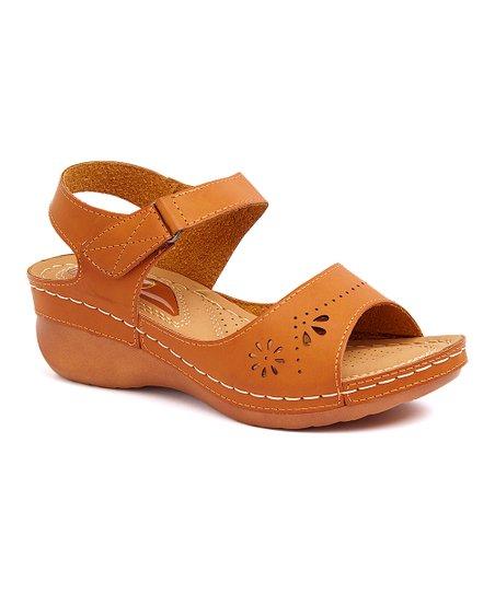 d181e812495 Betsey Paige Camel Cutout Ankle-Strap Sandal