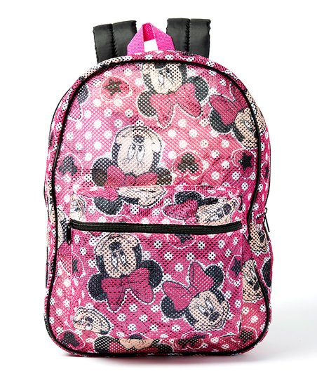 ba3e1e18d40 Global Design Disney Pink Minnie Mouse Mesh Backpack