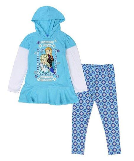 7637cb3cf8872 love this product Frozen Blue Anna & Elsa Hoodie & Leggings - Girls
