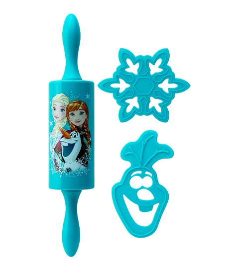 Frozen Elsa Anna Olaf Rolling Pin Cookie Cutter Set Zulily