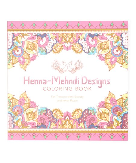 Sterling Henna Mehndi Design Paperback Coloring Book