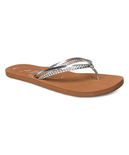 8077c32c82c7ee love this product Silver Cabo Flip-Flop - Women