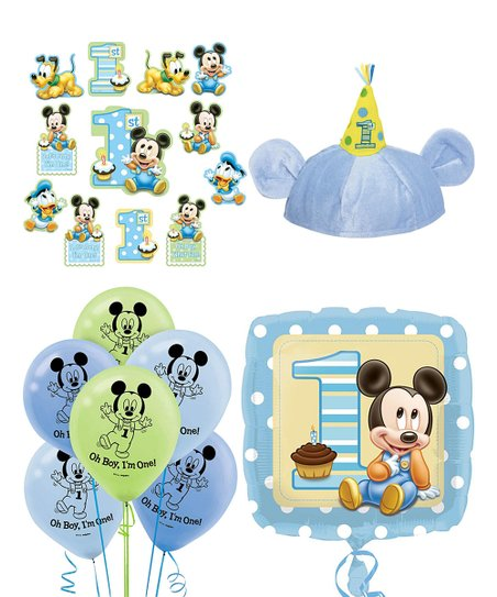 Disney Baby Mickey Mouse 1st Birthday Decorating Set