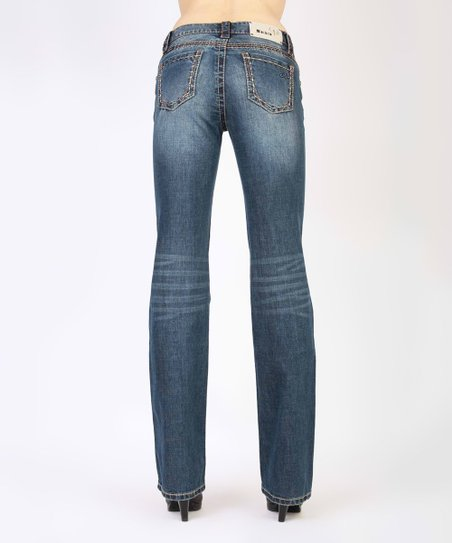 3fac84221a Adiktd Christy Embellished Athletic Fit Mid-Rise Bootcut Jeans ...