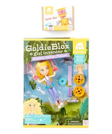 GoldieBlox Girl Inventor Zipline Action Figure