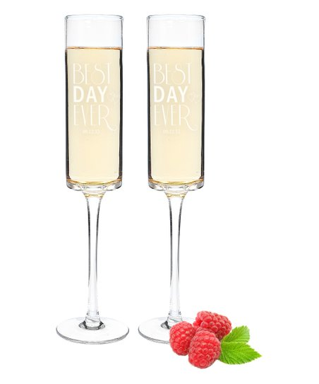 Best Day Ever Personalized Champagne Flute Set Of Two
