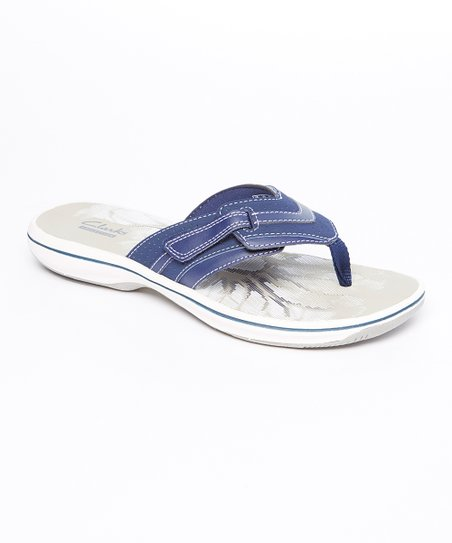 2f3318cf08c420 love this product Navy Brinkley Keely Leather Flip-Flop