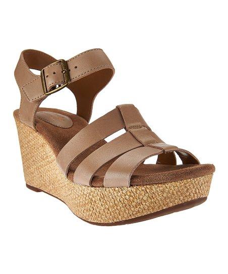 db0769077bba love this product Sand Caslynn Harp Wedge Sandal