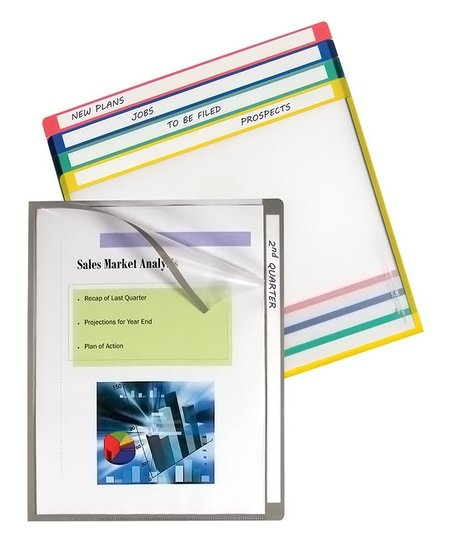 C-Line Products Acid-Free 25-Ct  Write-On Tab Project Folder Set