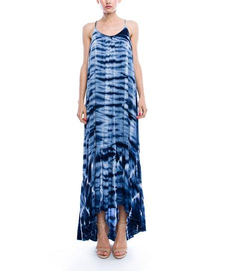 85eecb9b2312 love this product Navy & White Tie-Dye Hi-Low Maxi Dress