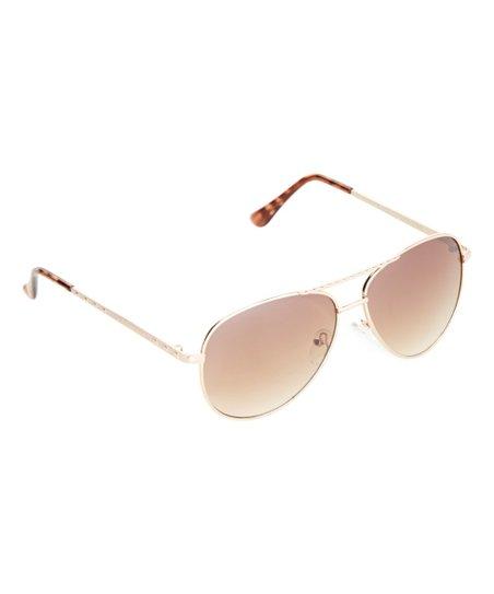 10d5e0b5673 Steve Madden Gold   Tortoise Studded Aviator Sunglasses