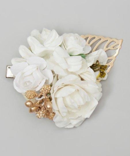 My Sunshine Shoppe White Flower Hair Clip Zulily