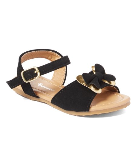 d9ebd97f8 love this product Black Bow-Accent Ankle-Strap Sandal - Girls