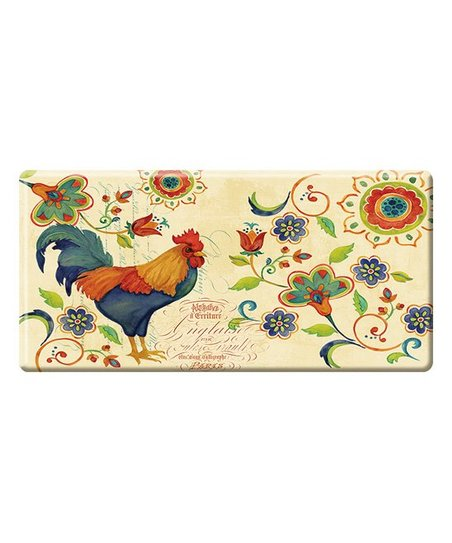 Apache Mills Natural Blue Rooster Kitchen Mat Best Price And Reviews Zulily