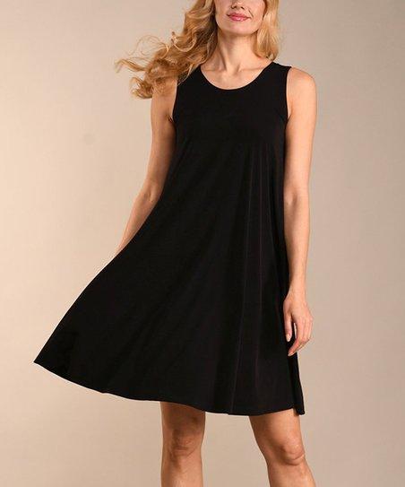 Lbisse Black Sleeveless Shift Dress Women Plus Zulily