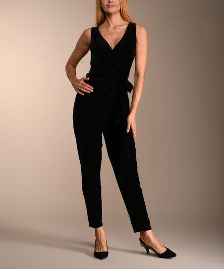 2fc8c8141af3 love this product Black Velvet V-Neck Jumpsuit