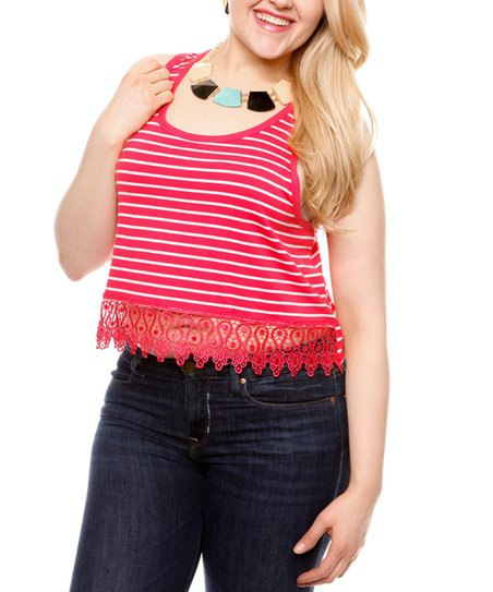 7e1764a7ee34a0 love this product Coral Lace Trim Crop Top- Plus