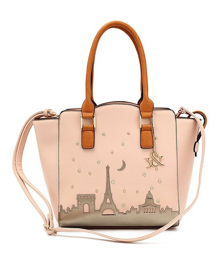 cd64b246e014 Blue Heaven Pink Paris Skyline Satchel