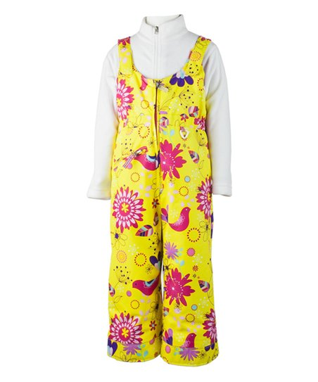 474509ee605b Obermeyer Yellow Floral Snoverall Bib Pants - Toddler