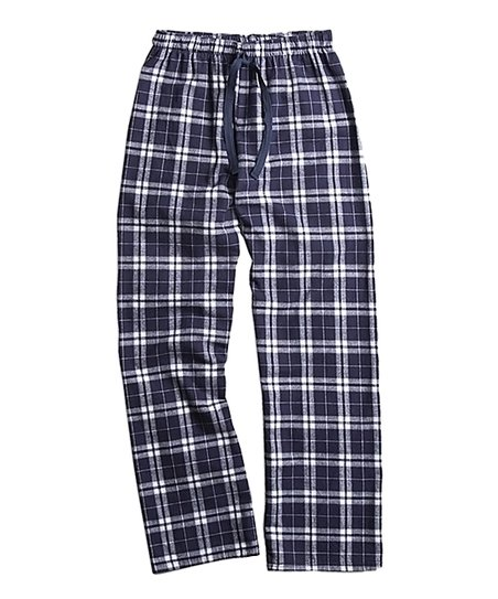fd3cb8714284 love this product Navy   Silver Plaid Flannel Pajama Pants - Women   Plus
