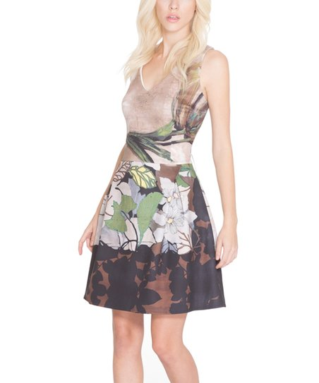 love this product Taupe   Brown Fit   Flare Dress 4b0931370d29