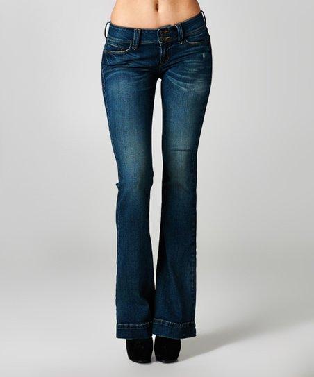 9a0d6d8ffbe Sneak Peek Medium Dark Flare Jeans | Zulily