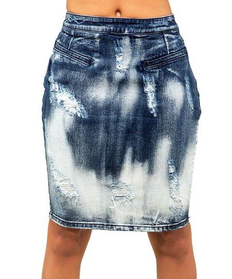 11e4e0bda2 Poetic Justice Jeans Trinity Lisa Back-Zip Denim Pencil Skirt | Zulily