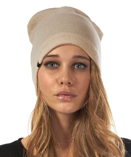ac657b56bbb love this product Tan Fleece-Lined Barca Slouch Beanie